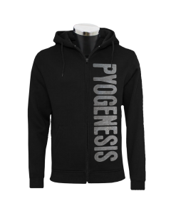 PYOGENESIS 'Metal Logo' Hooded Zipper black